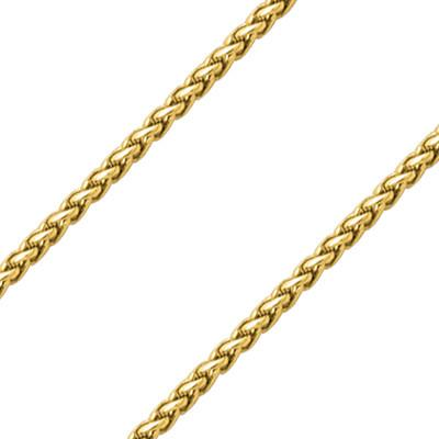 Excellence Wheat Link Mens Gold Stainless Steel Necklace