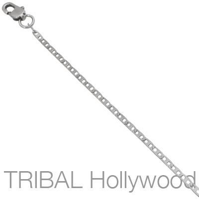Mens Necklace BIJOU Extra Thin Width Anchor Chain | Tribal Hollywood