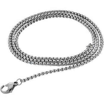 Box Chain Thin Width Steel Mens Box Link Necklace Chain