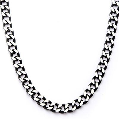 Cutting Edge Black and Natural Steel Flat Edge Curb Chain