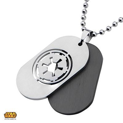 Star Wars Necklace for Men IMPERIAL CREST DOGTAG in Steel