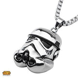 Star Wars Mens Necklace STORM TROOPER HELMET in Steel