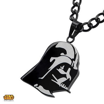Star Wars Mens Necklace DARTH VADER Etched Stainless Steel