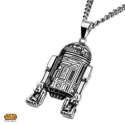 Star Wars Mens Necklace R2-D2 ASTROMECH DROID in Steel
