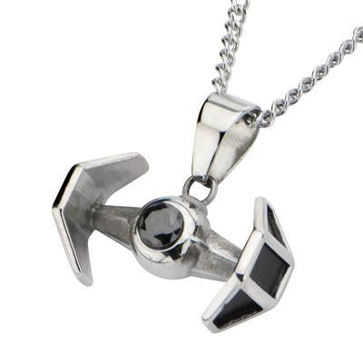 Star Wars TIE FIGHTER Mens Necklace in Stainless Steel