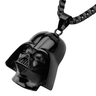 Star Wars Darth Vader Helmet Black Stainless Steel Necklace