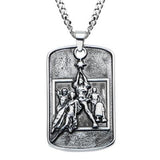 Star Wars Movie Poster Stainless Steel 3D Dog Tag Necklace Alt View