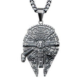 Star Wars Millennium Falcon Stainless Steel Necklace Alt View