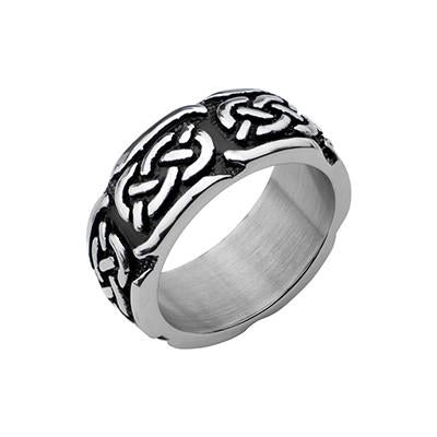 Celtic Knot Mens Ring CELTIC BAND in Stainless Steel