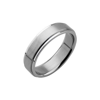 Classic Band Ring for Men THE OLD GLORY in Stainless Steel