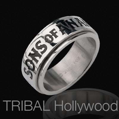 Sons of Anarchy Spinner Ring for Men in Stainless Steel