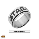 STAR WARS Mens Spinner Ring in Stainless Steel