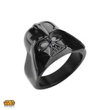 Star Wars Ring for Men DARTH VADER RING Black Steel Helmet