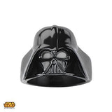 Star Wars Ring for Men DARTH VADER RING Black Steel Helmet Front View