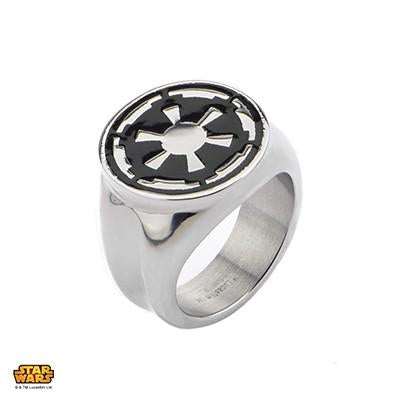 Star Wars Ring for Men IMPERIAL CREST RING in Steel