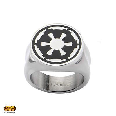 Star Wars Mens Star Wars Band Imperial Crest Stainless Steel SFTNI