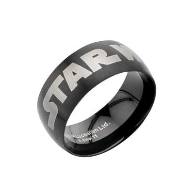 STAR WARS BLACK Stainless Steel Logo Ring for Men