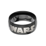 STAR WARS BLACK Stainless Steel Logo Ring for Men Alt View