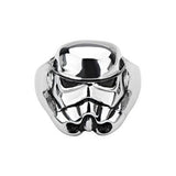 Star Wars STORM TROOPER RING for Men in Stainless Steel Front View
