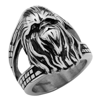 Star Wars Chewbacca 3D Face Ring in Stainless Steel