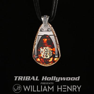 William Henry Zac Brown Guitar Pick Holder Mens Necklace