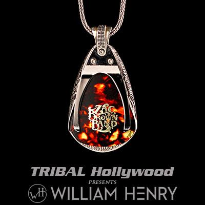 William Henry Zac Brown Silver Guitar Pick Holder Necklace