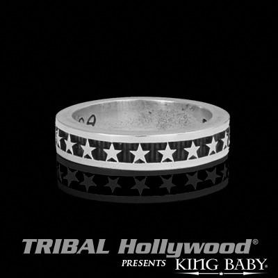 The STAR RING for Guys in Sterling Silver by King Baby