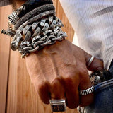 Cool Stacked Mens Rings and Bracelets