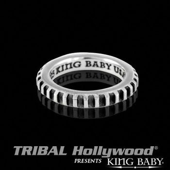 Men's Stackable Ring With Gear Design GEAR RING THIN