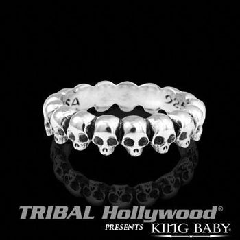 INFINITY SKULL RING King Baby Mens Sterling Silver Ring Band | Tribal Hollywood