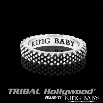Industrial Ring for Men by King Baby with Hundreds of Hand Designed Studs