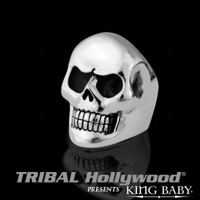Skull Ring for Men CLASSIC SKULL RING Heavy Duty King Baby Sterling Silver | Tribal Hollywood