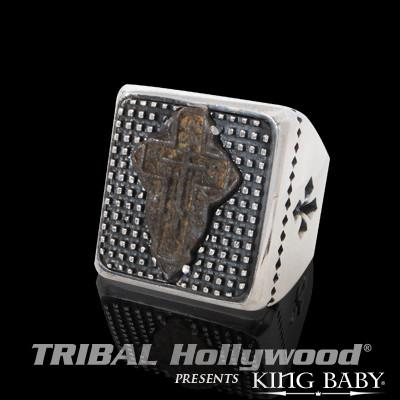 BYZANTINE CROSS Ring for Men in Silver by King Baby