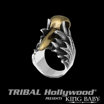 Ring for Men ALLOY RAVEN SKULL in Silver by King Baby Studio