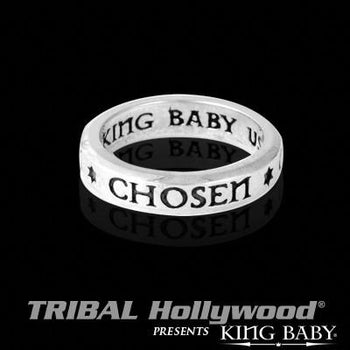 Chosen Stackable Sterling Silver Mens Ring by King Baby