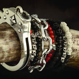 King Baby Bracelet Collection Featuring Skulls and Handcuffs