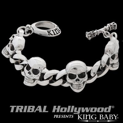 Cool Large Skull Bracelet by King Baby Studio