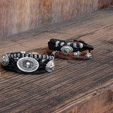 King Baby Bracelets Silver Bead and Leather Bracelets 2