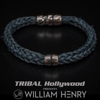 William Henry Mokume Gane Fused Metal Mens Kevlar Bracelet