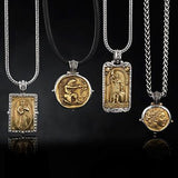 Konstantino Hercules Archer Bronze Coin Necklace Pendant with Konstantino Silver and Bronze Necklaces