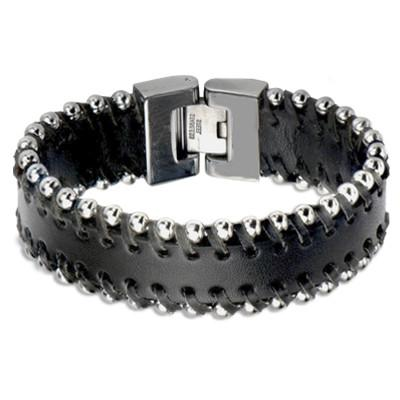 Tribal Hollywood Metal and Leather Bracelet Metal Meltdown