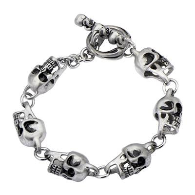 Tribal Hollywood Skull Chaser Bracelet Metal Meltdown