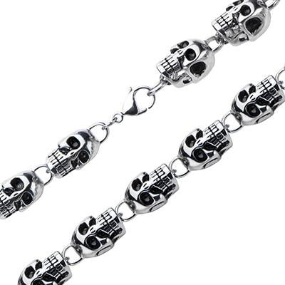 Tribal Hollywood Skull Chaser Necklace Metal Meltdown