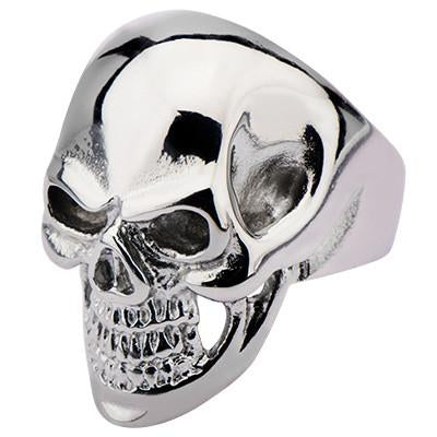 Tribal Hollywood Skull Ring Metal Mania in Stainless Metal Meltdown