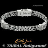 Eternal Bond Celtic Knots Sterling Silver Mens Bracelet Reverse Side