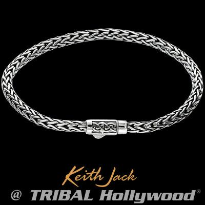Keith Jack Unbroken Faith Celtic Knots Silver Mens Chain