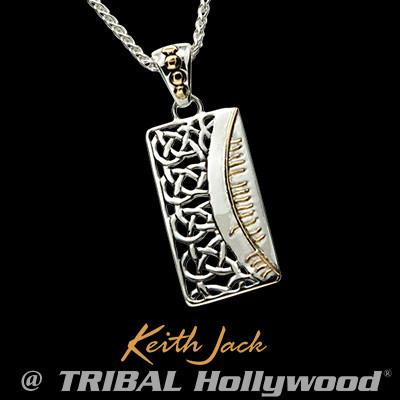 Druid Code Celtic Knots Silver and Gold Necklace Pendant