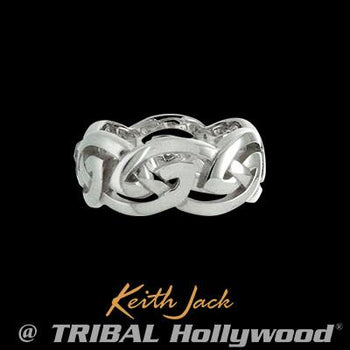 Infinite Celtic Knot Sterling Silver Mens Ring