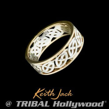 Eternal Celtic Knot Irish Sterling Silver Mens Ring