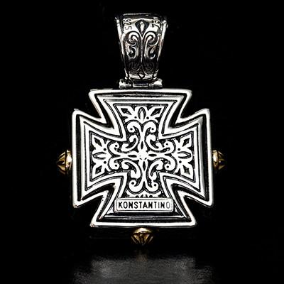 Konstantino 18k gold maltese cross mens necklace pendant konstantino 18k gold maltese cross mens necklace pendant back side aloadofball Image collections